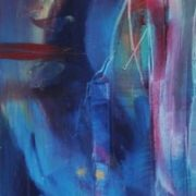 Vjekoslav Nemesh BUDDHA'S HAND oil on canvas 122 X 30.5 cm