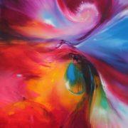 Vjekoslav Nemesh DIFFERENT WORLD oil on canvas 101 X 50 cm