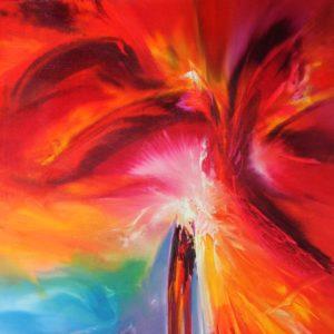 Vjekoslav Nemesh REACH II oil on canvas 101 X 50 cm DETAIL