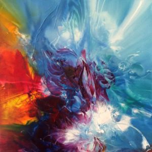 Vjekoslav Nemesh TRANSITION oil on canvas 101 X 50 cm DETAIL