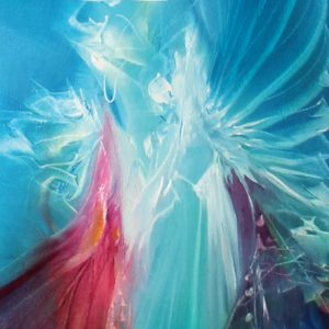 Vjekoslav Nemesh UNVEILING oil on canvas 122 X 20 cm detail