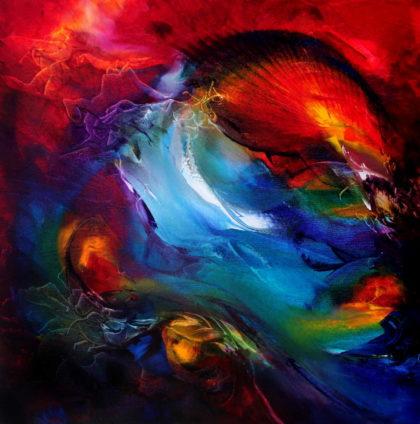 PURIFICATION i, oil on canvas, 50 X 50 cm