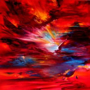Vjekoslav Nemesh WINGS OF HOPE 2011 oil on canvas 100 X 100 cm