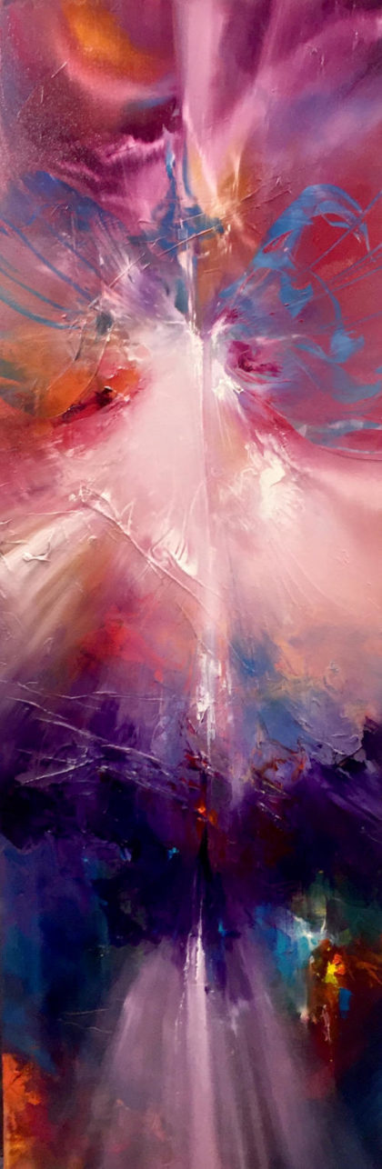 SOUL, oil on canvas, 122 X 40 cm
