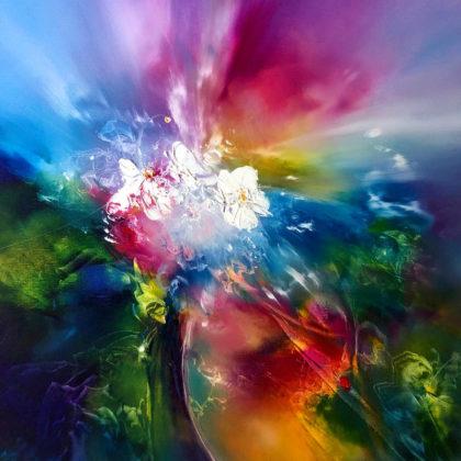 FLOWER POWER, oil on canvas, 51 X 51 cm