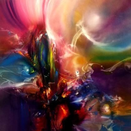 PRECIOUS, oil on canvas, 101 X 101 cm