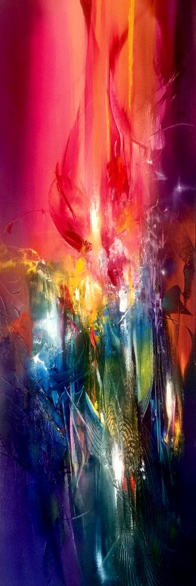 SACRED HEART, oil on canvas, 101 X 41 cm