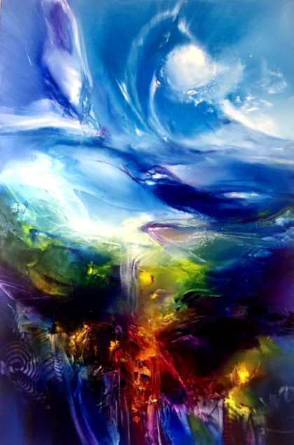 HO'OPONOPONO, oil on canvas, 91 X 61 cm