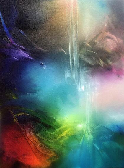 BELOVED SOUL, oil on canvas, 41 X 31 cm