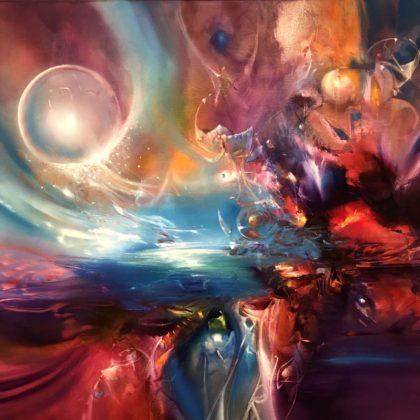 CORONA, oil on canvas, 101 X 101 cm