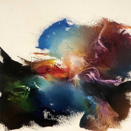 HOLY MOTHER HEAR MY PRAYER, oil on canvas, 46 X 46 cm