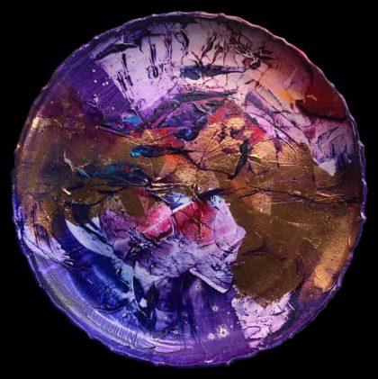 MISS ME, oil on ceramic plate 35 cm diameter