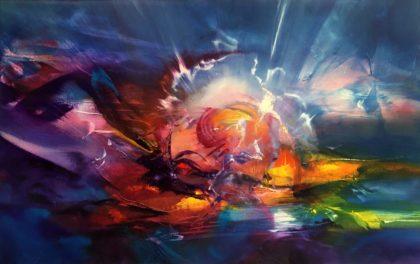 THUNDER, oil on canvas, 53 X 83 cm