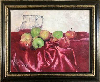 JABUKE I VINO (APPLE AND WINE), 1993, oil on canvas
