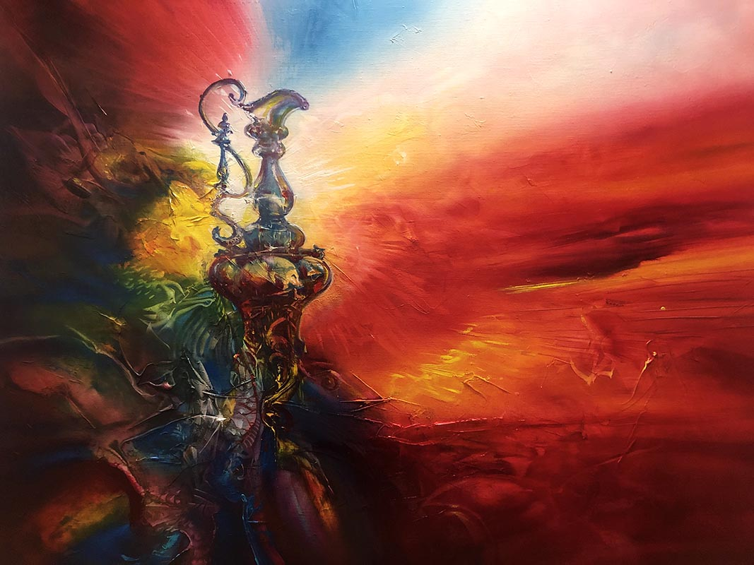 VICTORY PAINTING, oil on canvas, 91 X 122 cm