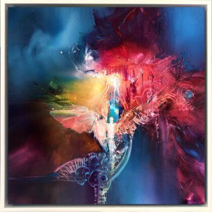 AOTEAROA ANGEL, oil on canvas, 51 X 51 cm