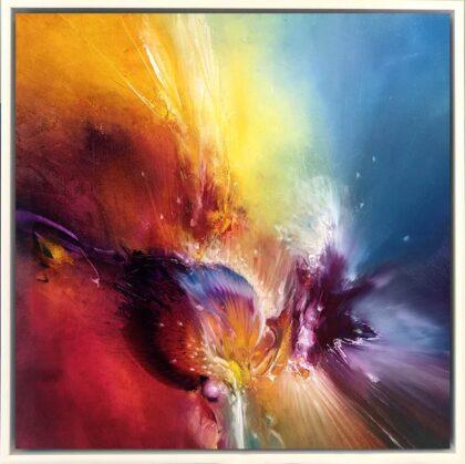 DRAGONS HEART, oil on canvas, 51 X 51 cm