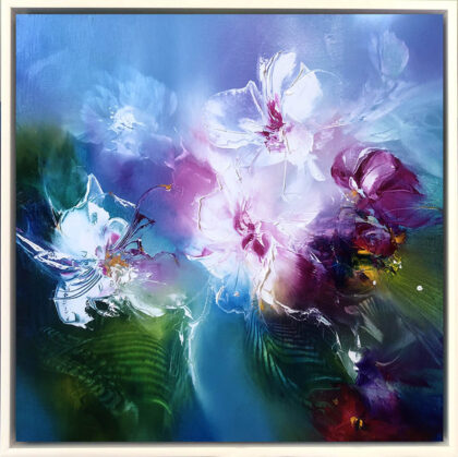 ETHEREAL ORCHIDS I, oil on canvas, 51 X 51 cm