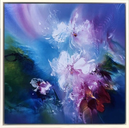ETHEREAL ORCHIDS II, oil on canvas, 51 X 51 cm