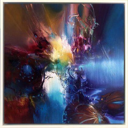 SOUNDS LIKE SPIRIT, oil on canvas, 51 X 51 cm