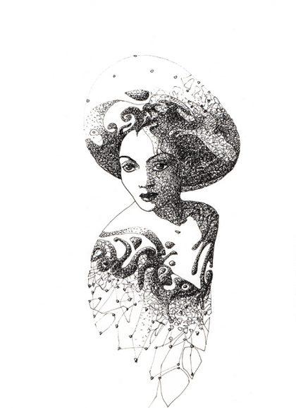 MDNA, mixed media on paper, 29 X 20 cm